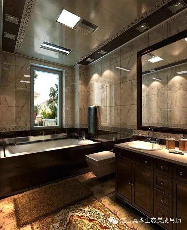 马桶需要根据坑距合理选择;浴室柜和镜子问题也根据喜好选择即可;淋浴