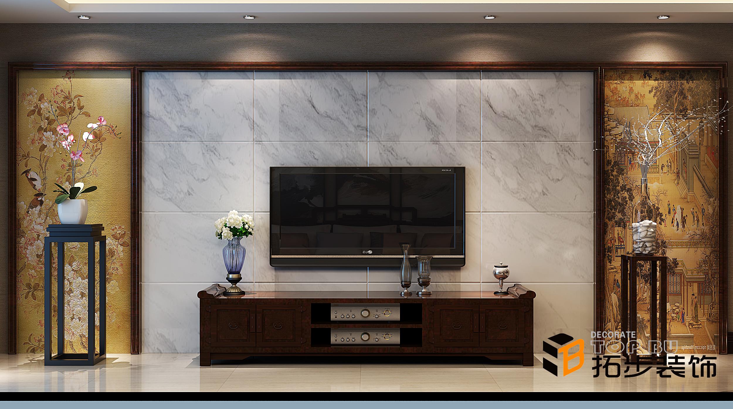 最新客厅电视背景墙案例效果图欣赏