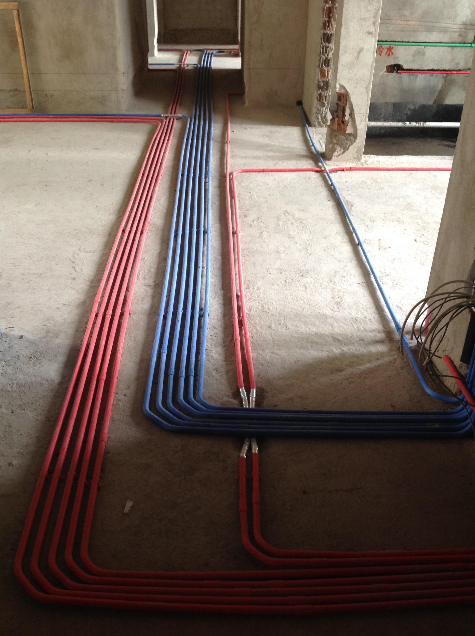 电路施工:电路排放,横平竖直