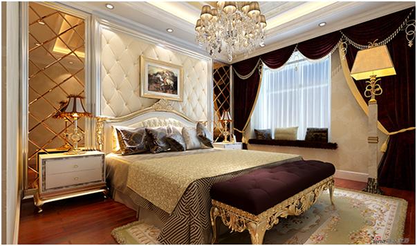 尊贵典雅的欧式风情卧室