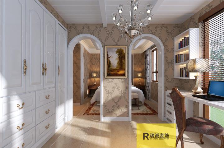 【思念果岭】90平米2房欧式风格装修设计效果图