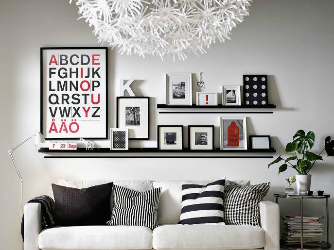四幅照片墙设计