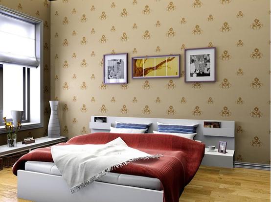 欧式卧室壁纸效果