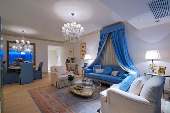 地中海风格装修,演绎白+蓝的浪漫