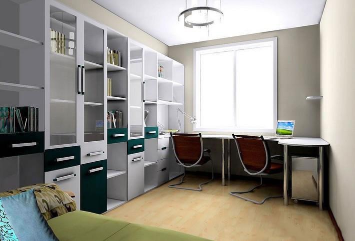 欧式风格别墅设计书房:简单的家具放置,让整个房间看上去轻松,惬意.