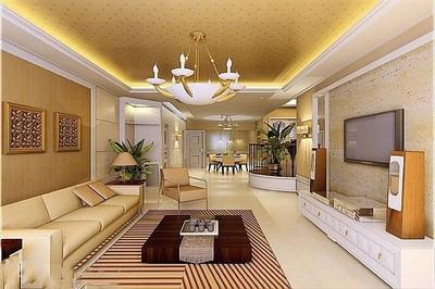 20万客厅装修 奢华的欧式风格-装修保障网