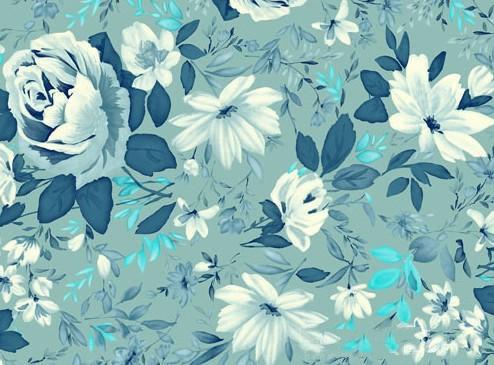 美式田园风格的墙纸,在墙纸材料选择上,多倾向于硬朗,光挺,华丽的图片