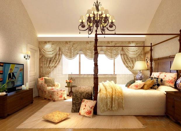别墅华丽欧式卧室装修效果图     欧式风格奢华,典雅,总给人一种皇室