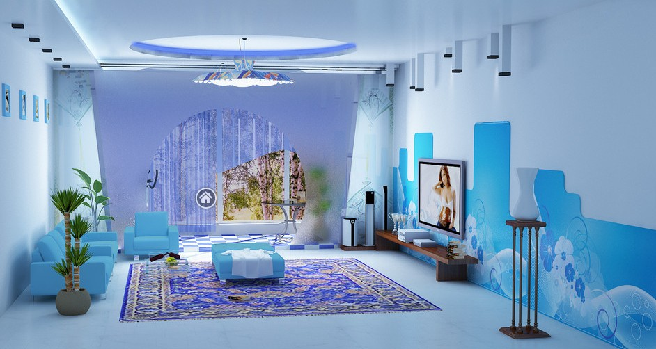 欧式风格客厅装修欣赏图片