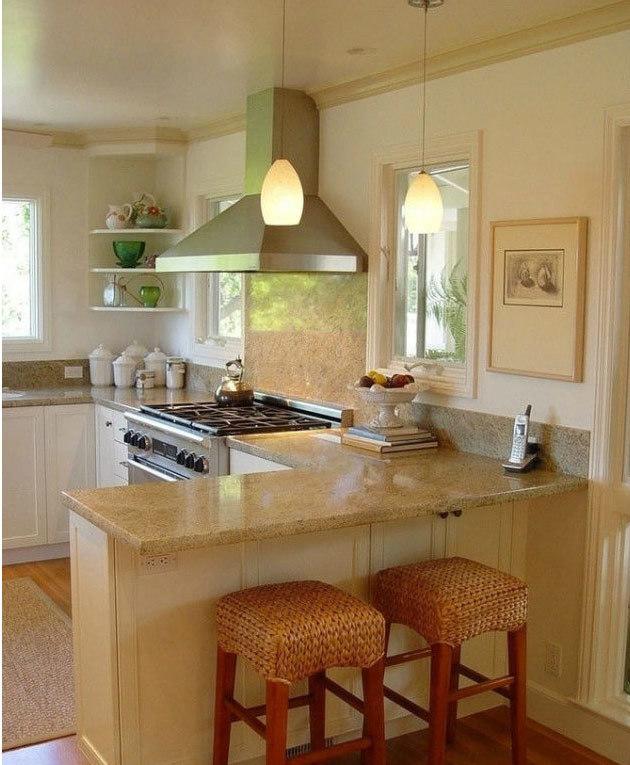 开放式厨房吧台装修设计效果图