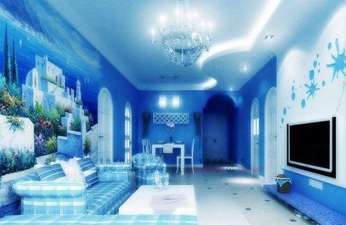 地中海风格客厅装修案例:马赛克镶嵌,拼贴在地中海风格中使得