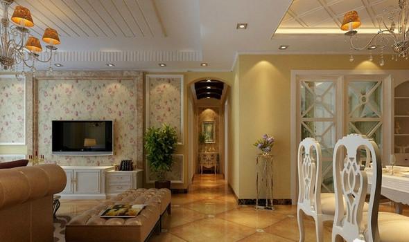 根据家庭装修风格的不同,客厅电视背景墙的风格自然而然的也分