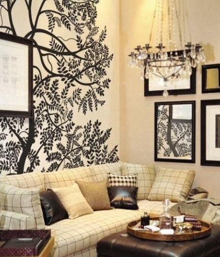 手绘墙画图案:选择几个喜欢的几何图案,随意拼接,拼接完成后打印