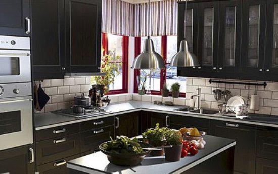 小户型整体厨房交换空间厨房设计装修效果图