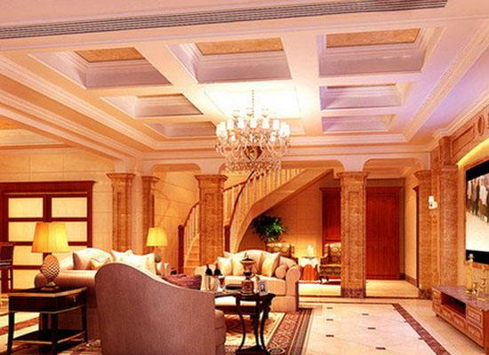 欧式客厅吊顶装修设计 华丽又典雅图片