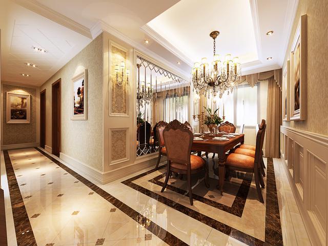 把客厅做了整体挑空,同时电视和沙发背景墙用了石材做造型,中间用微晶