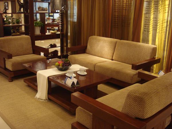 海棠木实木沙发图片