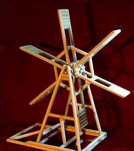 木棒手工制作风车
