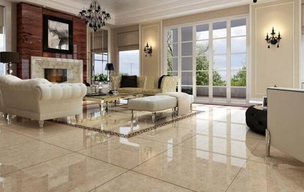 黄色的地板砖颜色,可以说是使用较多的一种颜色,暖黄色的地砖