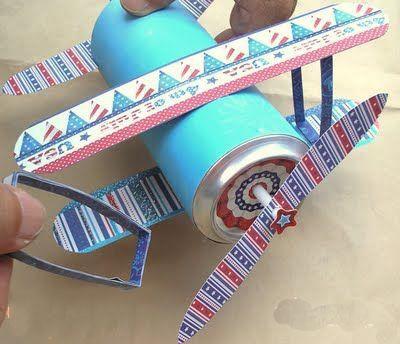 幼儿园手工制作飞机模型