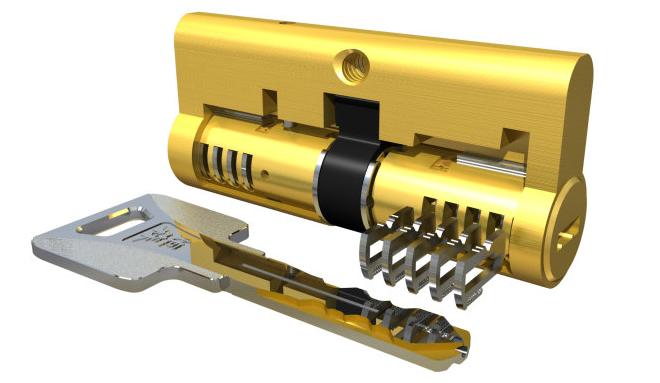 机械锁芯的结构图