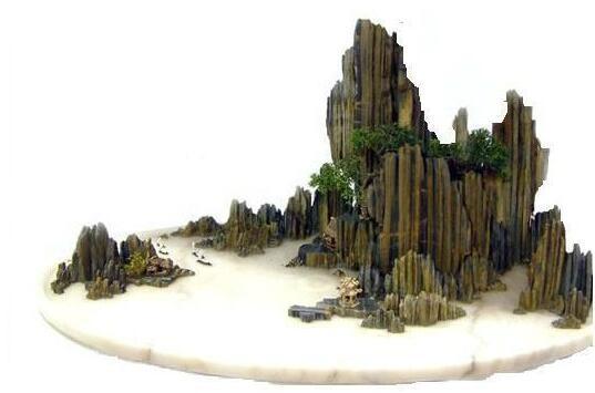 马克笔手绘假山