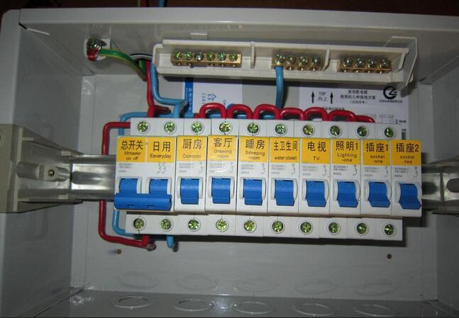 家用照明配电箱接线图
