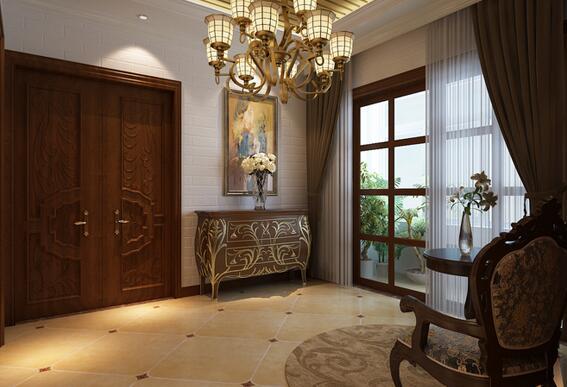 再搭配一个盆景或盆栽,以自然的清新进一步缓和窗户与玄关之间相冲突