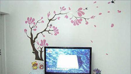 唯美墙贴_晒一下唯美墙贴 打造温馨客厅