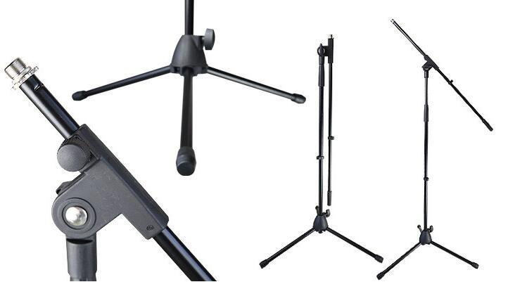 麦克风防震架与支臂的链接:把支臂上黑色的扭盖和防震架右侧的螺旋孔图片