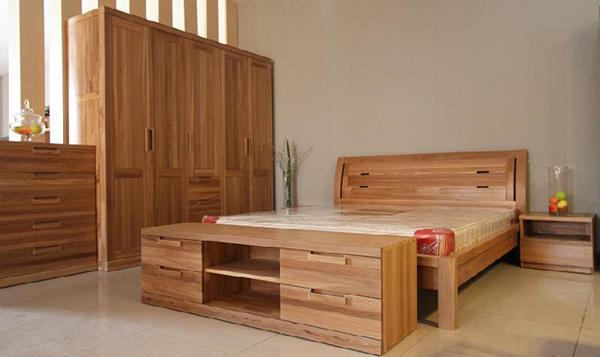北美黑胡桃木实木双人床简约橡木床北欧现代