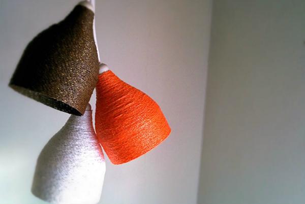 家居diy:塑料瓶手工制作简约风精美灯罩的步骤