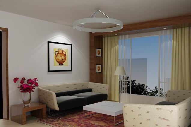 中式客厅窗帘效果图 用窗帘体现中式风味图片