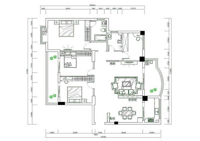 室内空间结构分析