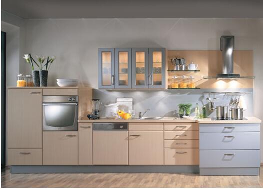 厨房装修之一字型厨房装修图片