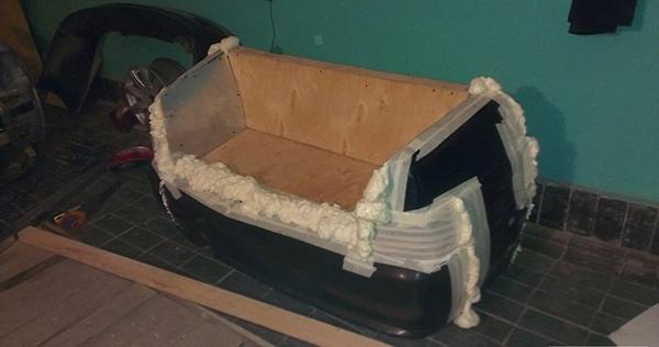 家居diy:废弃汽车新用途 手工diy舒适沙发