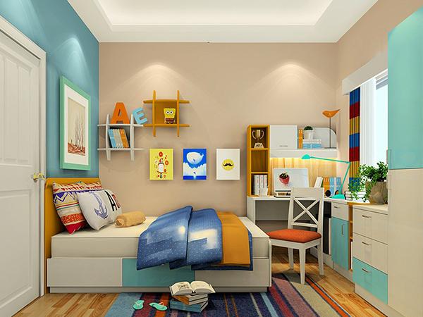 儿童房风水全解析   1、儿童房的装饰布置可以从门窗、主色调以及床和书桌的摆放入手。首先,房门不要与洗手间对冲,所谓对冲就是两个门正对,而孩子的房间也不应该在洗手间旁边,影响孩子的学习专注度,经常走神。此外,房间设计忌两头通,是指房间的门(特别是推趟门)趟开时,门口正对房间另一头窗户、阳台等通往外界的门口,这样的孩子比较有个性或调皮,窗户外忌有烟囱和水渠等呈现动态的物象,这些会导致孩子在思维上的混乱,尤其是数理方面。   2、其次主题颜色也是至关重要的,颜色太深沉和太强烈都是不适合孩子成长,天花
