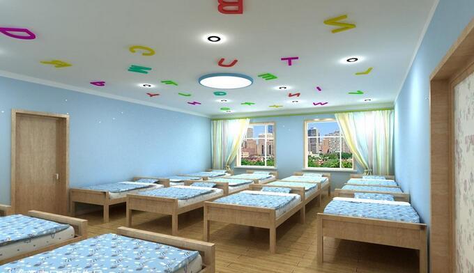 幼儿园卧室即儿童房(卧室)主要是为幼儿提供睡眠的场所,因此幼儿园卧室设计整体必须是舒适、放松、健康、温暖、向上的环境,以促进儿童身心健康发展。那么装修网小编带大家去了解一下幼儿园卧室如何装修设计,幼儿园卧室效果图吧!  幼儿园卧室效果图 幼儿园卧室图   (一)幼儿园卧室功能描述   幼儿卧室为幼儿提供了温馨就寝的环境,室内设有幼儿用床、幼儿卫生间、空调、温度计、储藏柜、窗帘等设施。   (二)幼儿园卧室设计目标   1、幼儿园卧室教育目标   (1、创设卫生、健康的睡眠环境,让幼儿睡得更加健康。