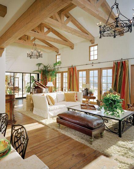 田园风格客厅吊顶效果图