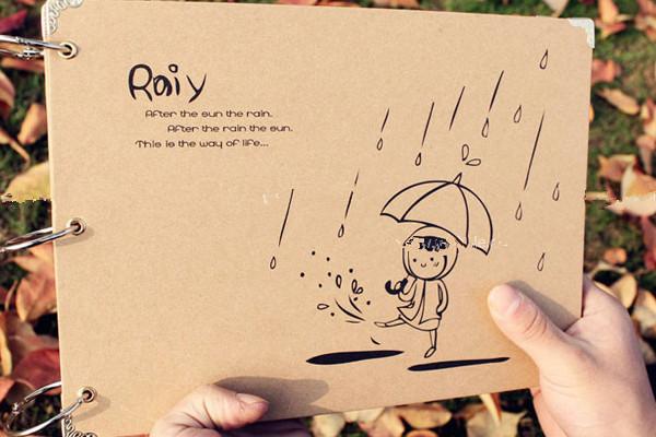 家居diy:diy相册设计手绘图制作方法       第四步:在相册内页可以做