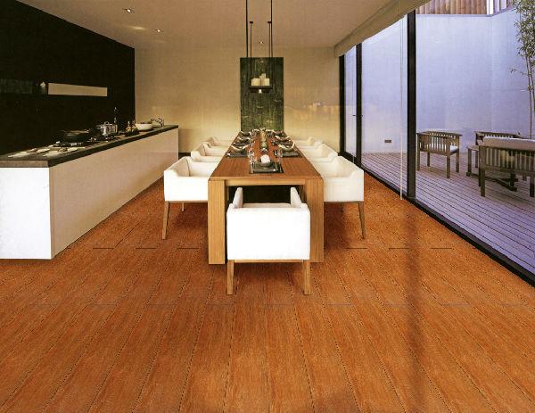 年轻人嫌实木地板难照顾,会选用木纹砖装饰卧室,但实木地板看起来更为