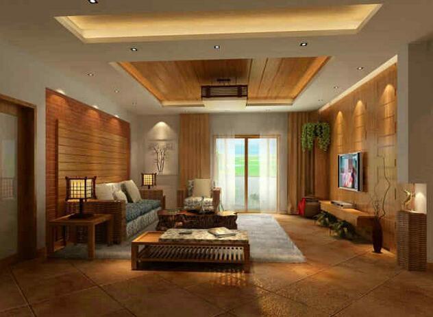 客厅木质吊顶装修设计