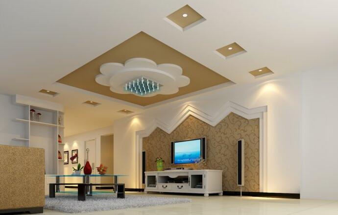 客厅全吊顶装修设计 客厅全吊顶装修效果图