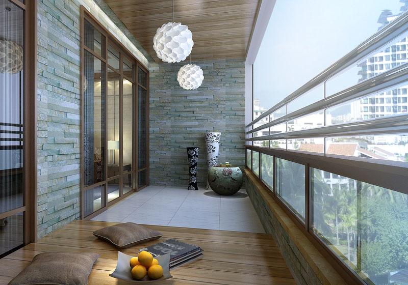 室外砖图片_阳台装修设计要点事项及阳台风水禁忌 - 装修保障网
