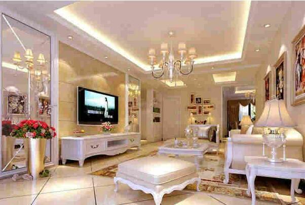 客厅灯池装修设计 客厅灯池造型效果图片