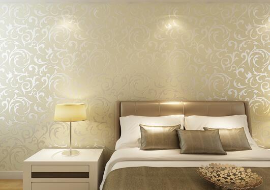 卧室壁布怎么搭配?卧室壁布效果图