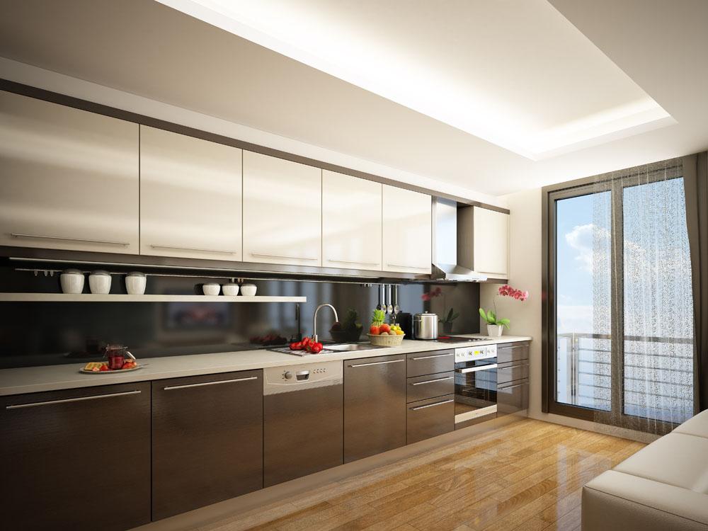 年轻人的饮食观念也在变化,传统的热炒已经慢慢从餐桌消失,如今年轻人的厨房更多的是西餐和甜点的诞生之地,因此开放式厨房变得越来越普遍。   开放式厨房是指巧妙利用空间,将实用美观的餐桌与厨房紧密相连,形成一个开放式的烹饪就餐空间.开放式厨房营造出温馨的就餐环境,让居家生活的贴心快乐从清早开始就伴随全家人。中等户型的家庭会根据空间的特点来放置各种结构的橱柜,无论是岛型操作区,或是L型操作区、方正空间常用的U型操作区、具备分隔空间功能的T型操作区,都能毫不费力地开辟出摆放餐桌的位置。