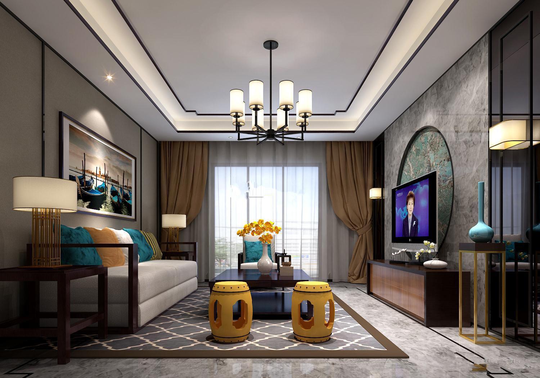 样板美图 新中式三房二厅一卫装修案例     设计理念:新中式风格,新中图片