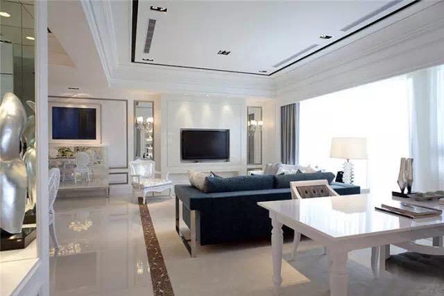 朝晖御苑两室两厅简欧装修效果图及装修报价图片