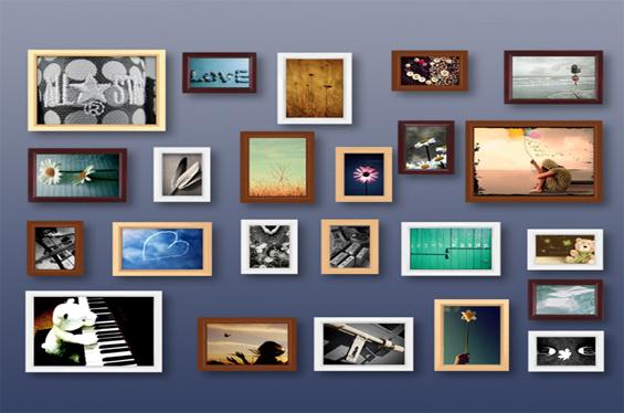 创意照片墙装饰 教你布置家居墙面风景